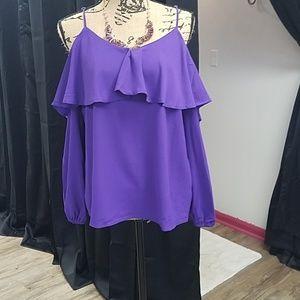 Purple off the shoulder